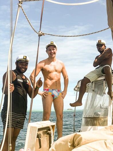 Buggie smugglers, Fijian crew, yacht